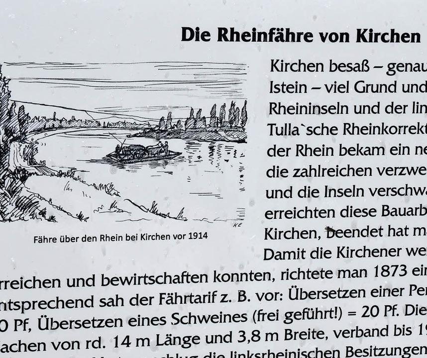 Von 1873 bis 1919 war die Kirchener Fähre in Betrieb.   | Foto: Langelott