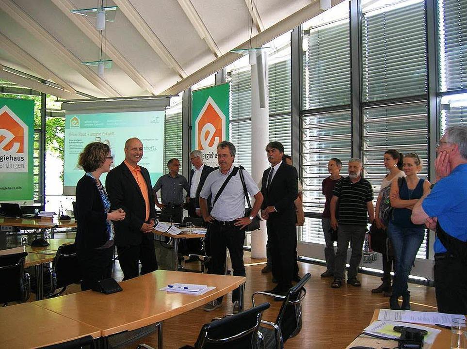 Begrüßung der französischen Delegation im Rathaus  | Foto: Sylvia-Karina  Jahn
