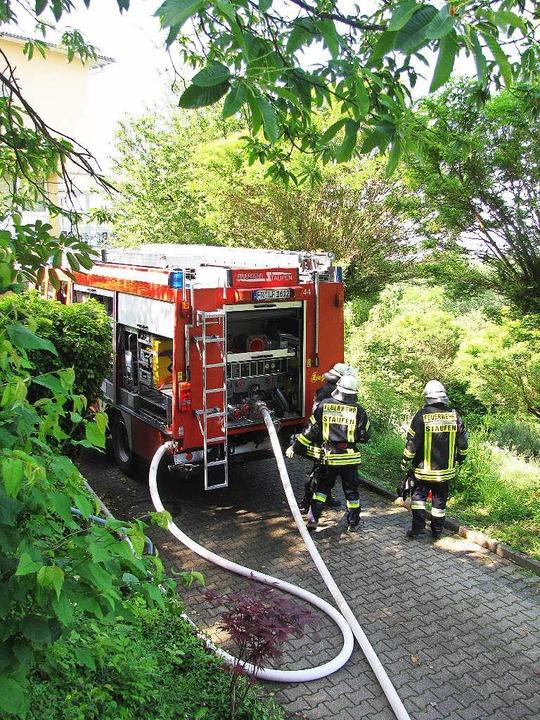Die Feuerwehr war bei der ehemaligen Schlossbergklinik im Einsatz.