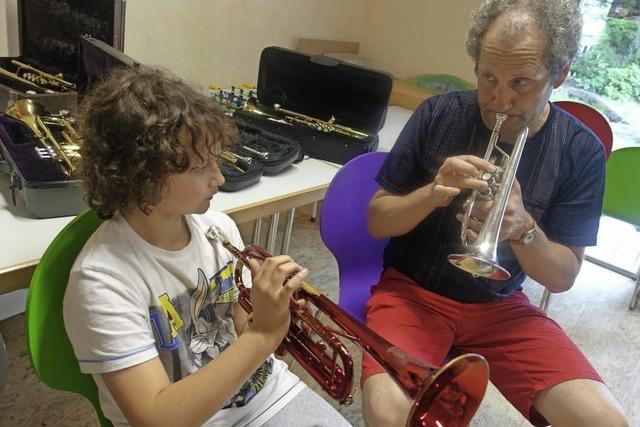 Trompete spielen beginnt bei Tatütata
