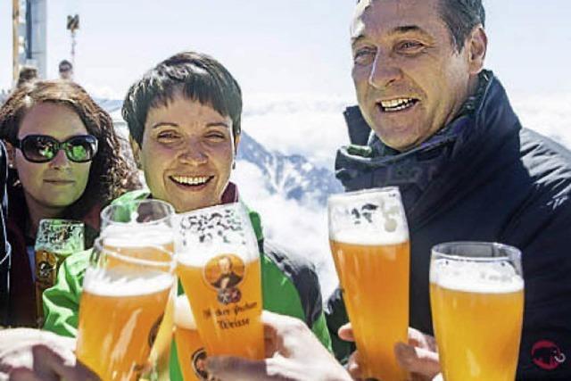 AUCH DAS NOCH: Werbung für AfD – oder für Bier?
