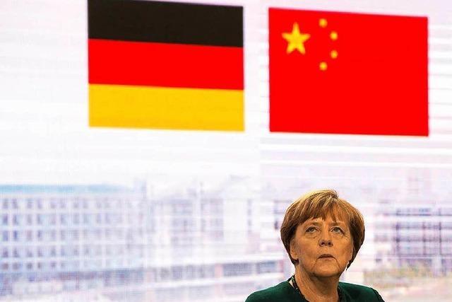 Merkel steht vor schwierigem China-Besuch