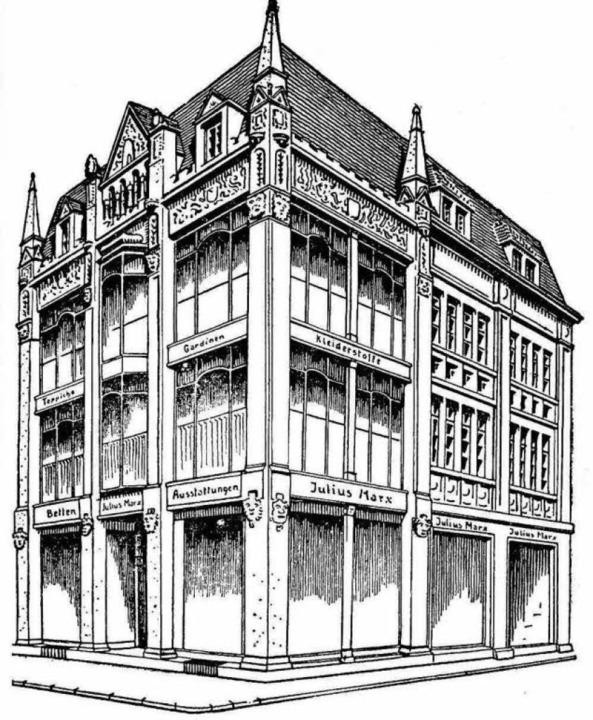 Eine Skizze des Hauses von 1925 nach dem Um- und Ausbau durch Julius Marx.   | Foto: Archiv Gallo