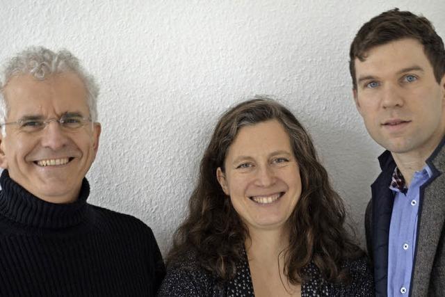 Trio: Geigerin Muriel Cantoreggi, Cellist Juris Teichmanis,Pianist Hanjacob Staemmle. Werke: Mozart, Beethoven und Brahms in St. Blasien