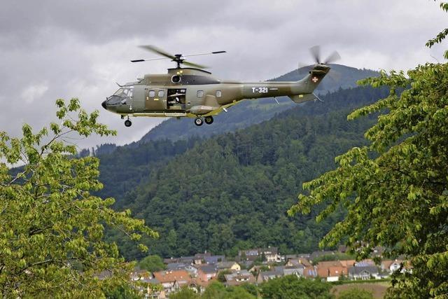 Hubschrauber-Einsatz über Wieslet