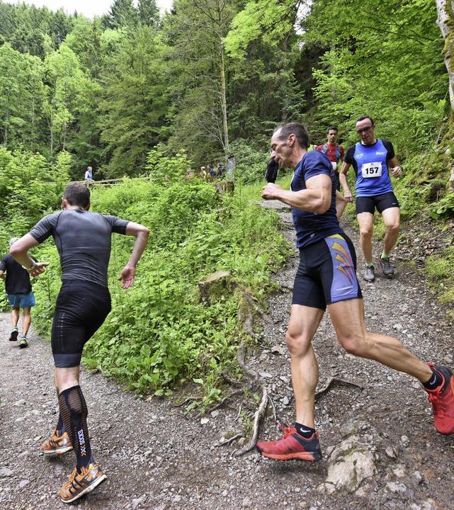 Zuerst steil bergab, dann extrem hinau... Halbmarathon Deutschlands alle Ehre.   | Foto: patrick seeger