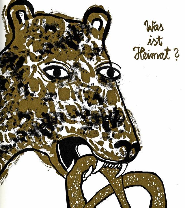 Fremdheitsgefühl: Leopard frisst Brezel.  | Foto: Madgermanes