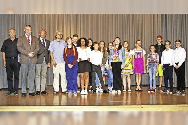 Mundart-Förderpreis für Musical-AG