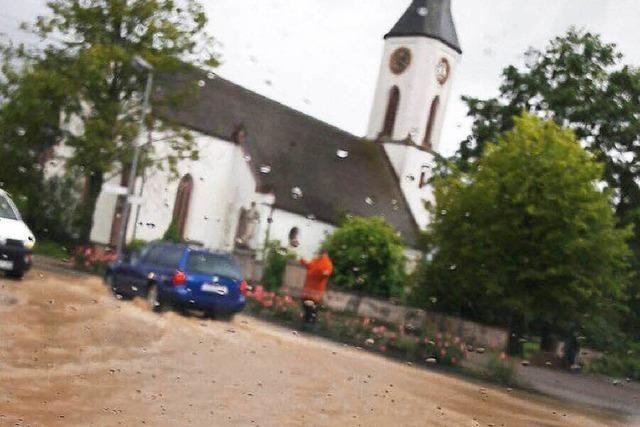 Hochwassereinsatz für Feuerwehr in Sexau