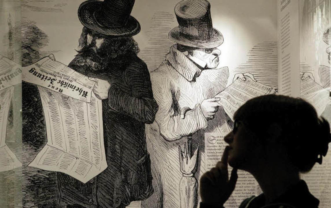 Schwarz auf weiß: Die Zeitung macht Ge...den Straßburger Rat vom Dezember 1605   | Foto: DPA