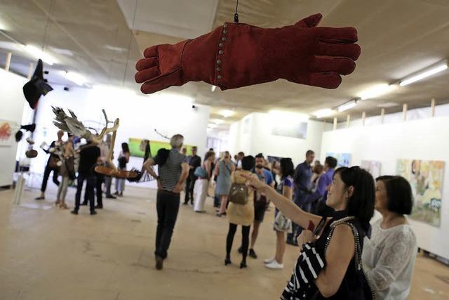 Eine Ausstellung mit einer besonderen Hängung