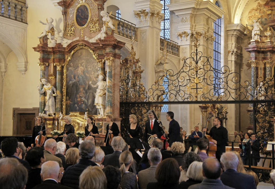 Eine Oktett-Elite zu Gast in St. Peter beim Solsberg-Festival   | Foto: festival
