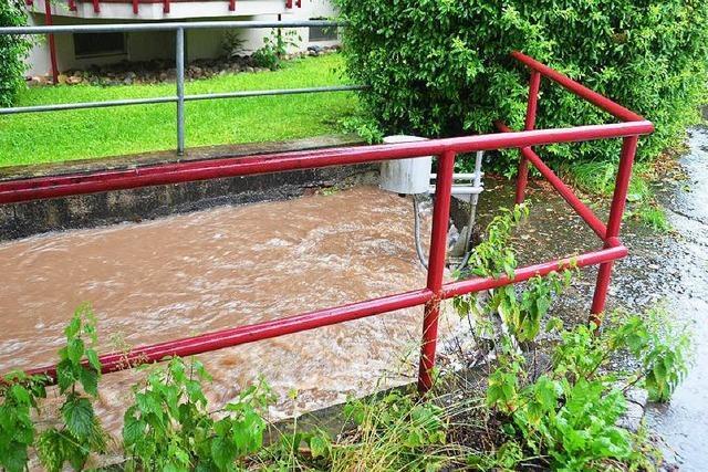 Unwetter im Elztal: Mehrfamilienhäuser wegen Hangrutsch evakuiert