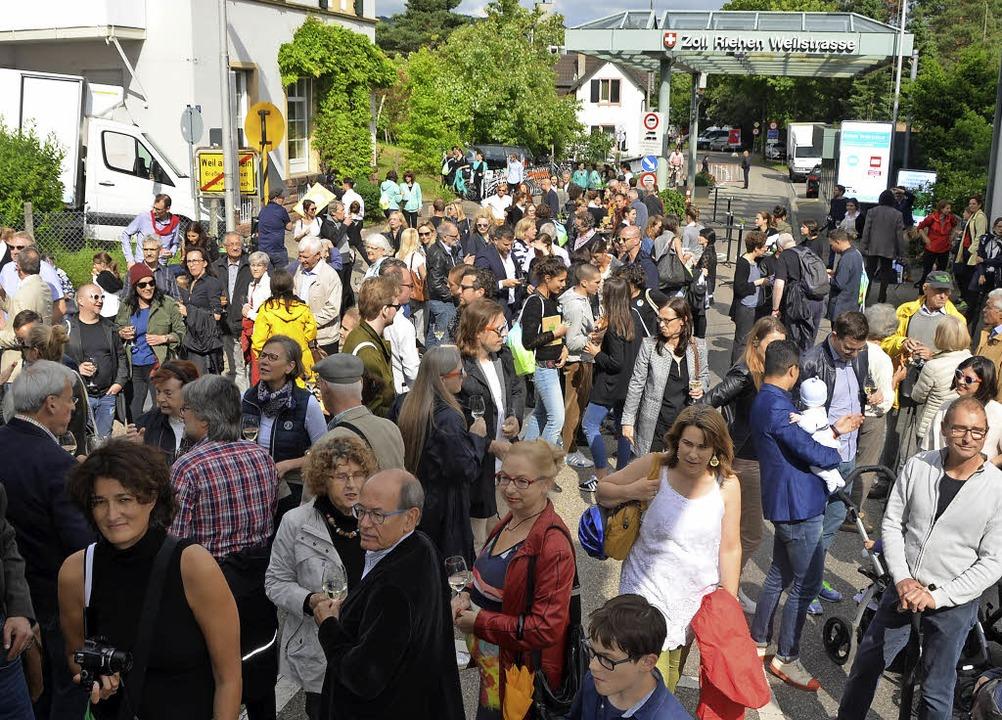 Viel los war am Sonntag am Altweiler Z...ng der 25. Station des Rehbergerwegs.   | Foto: SENF