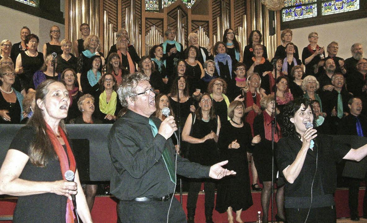 Stimmstarke Solisten hat der Pop- und ...ber und  Natalie Sonntag (von links).   | Foto: Roswitha Frey