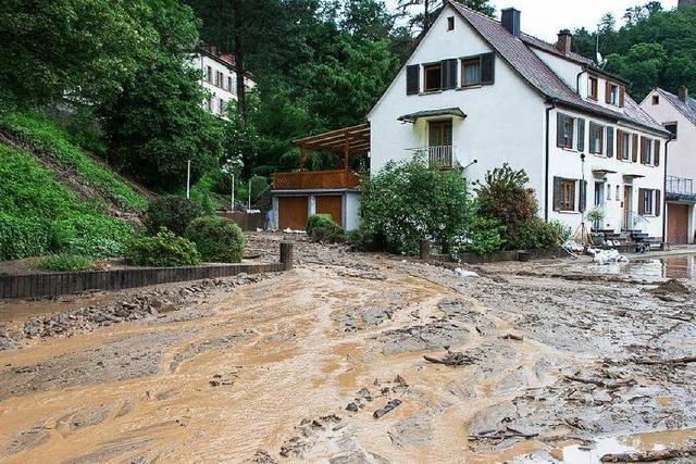Wassermassen und Hangrutsche bringen Waldkirch ans Limit