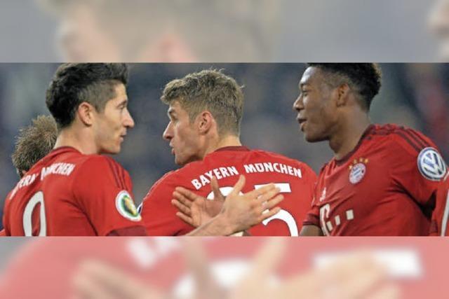 Bayern watschen den Pokalverteidiger Wolfsburg ab