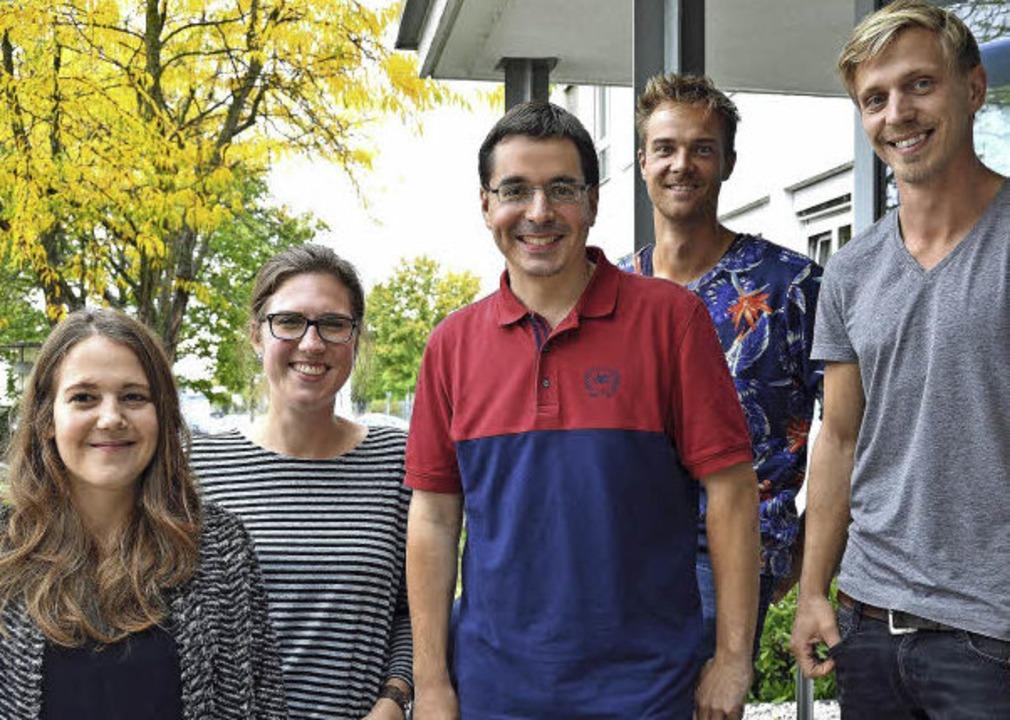 Die Jungjournalisten der Badischen Zei...n Engel und Felix Lieschke (von links)    Foto: Marion Pfordt