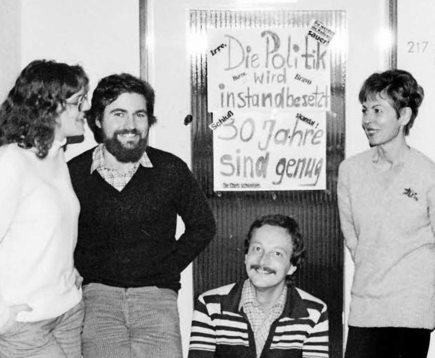 Ein Foto aus den 1980er-Jahren zeigt e...Ruth Gleissner-Bartholdi (von links).   | Foto: BZ/privat