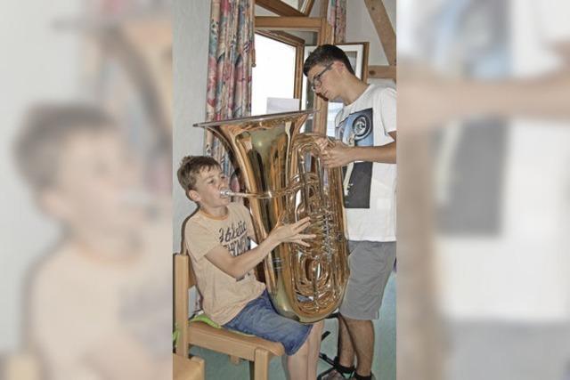 Trompete oder lieber Tuba?