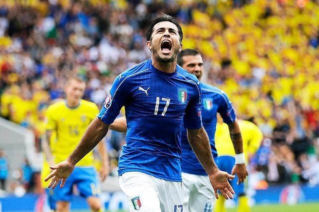Italien steht nach 1:0 über Schweden im Achtelfinale