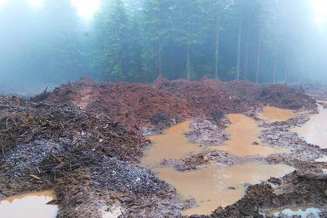 Regen legt Baustelle am Rohrenkopf still