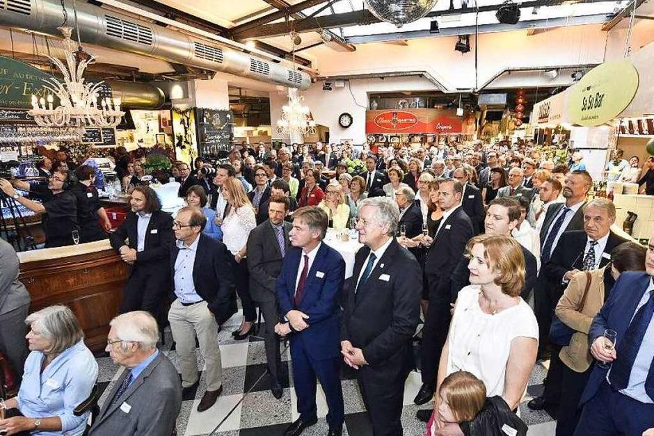 500 Gäste aus Politik, Medien, Wirtschaft und Kultur sind gekommen, um den Geburtstag der BZ zu feiern. (Foto: Michael Bamberger)
