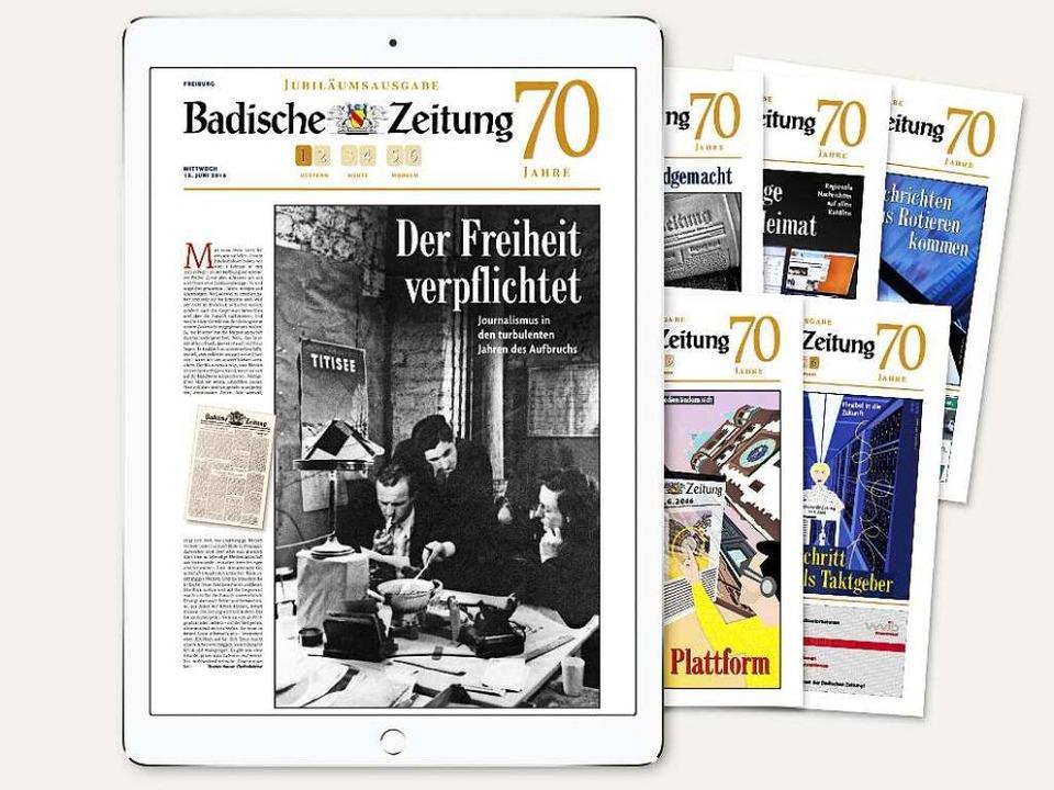 Zeitungsgeschichte auf 100 Seiten:  In... die Geschichte der Badischen Zeitung.  | Foto: bz