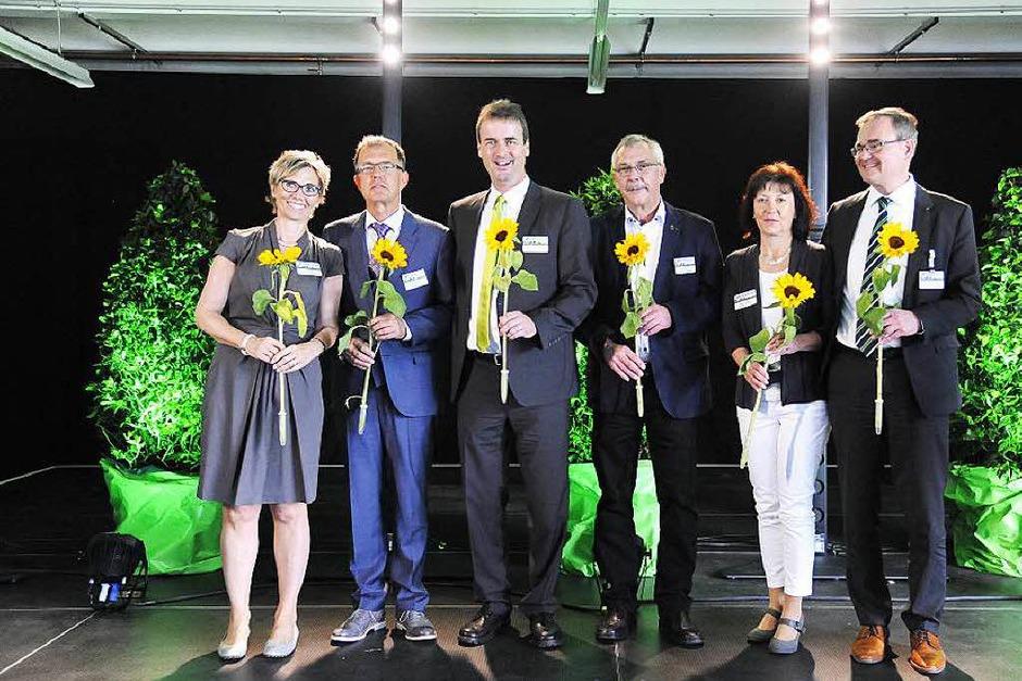 Das Orgateam bekam Sonnenblumen als Dankeschön. (Foto: Markus Zimmermann)