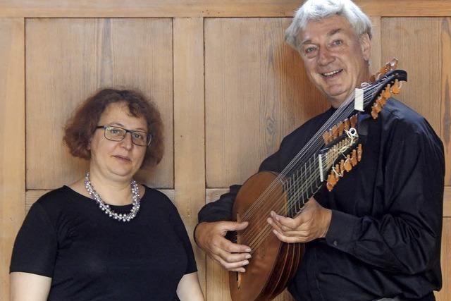 Claire Decaux (Sopran) und Christian Zimmermann (Barocklaute, Barockgitarre) in Badenweiler