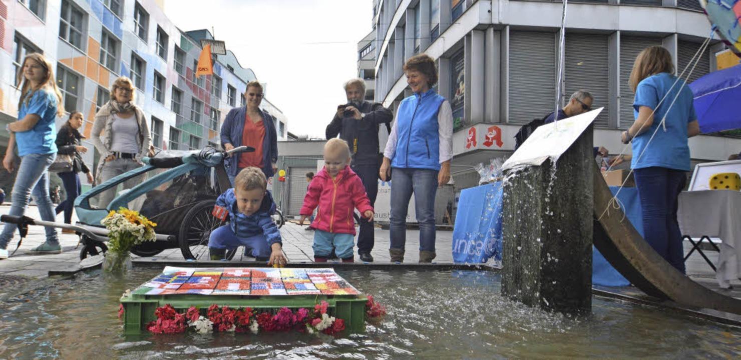 Am Wunschbrunnen der Unicef-Juniorbotschafter   | Foto: Barbara Ruda