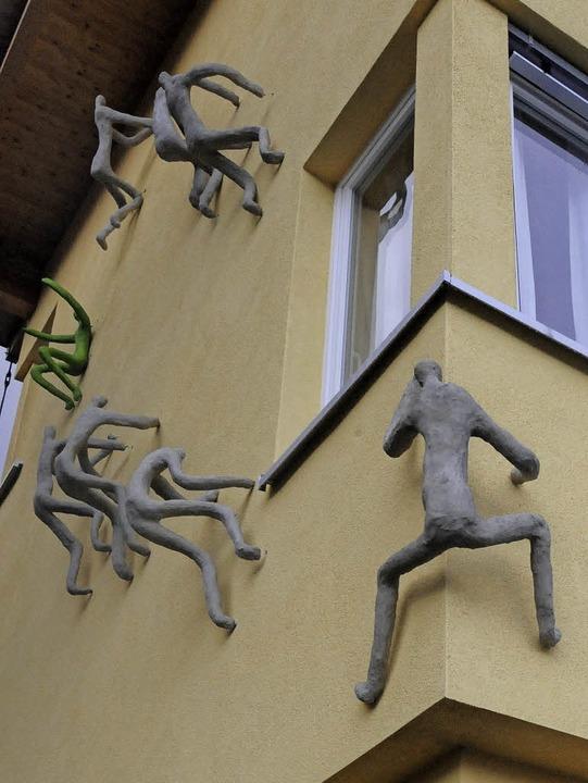 Kletterkunst am Hausgrün  | Foto: Markus Zimmermann