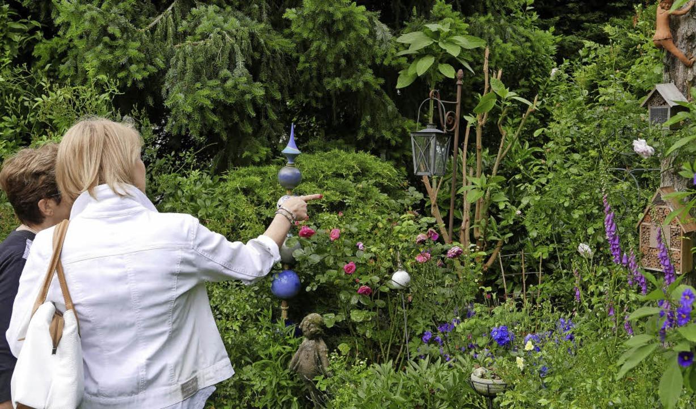 Viele Gartenfreunde bestaunten die gep...itha und Willi Schultis in Simonswald.  | Foto: Horst Dauenhauer