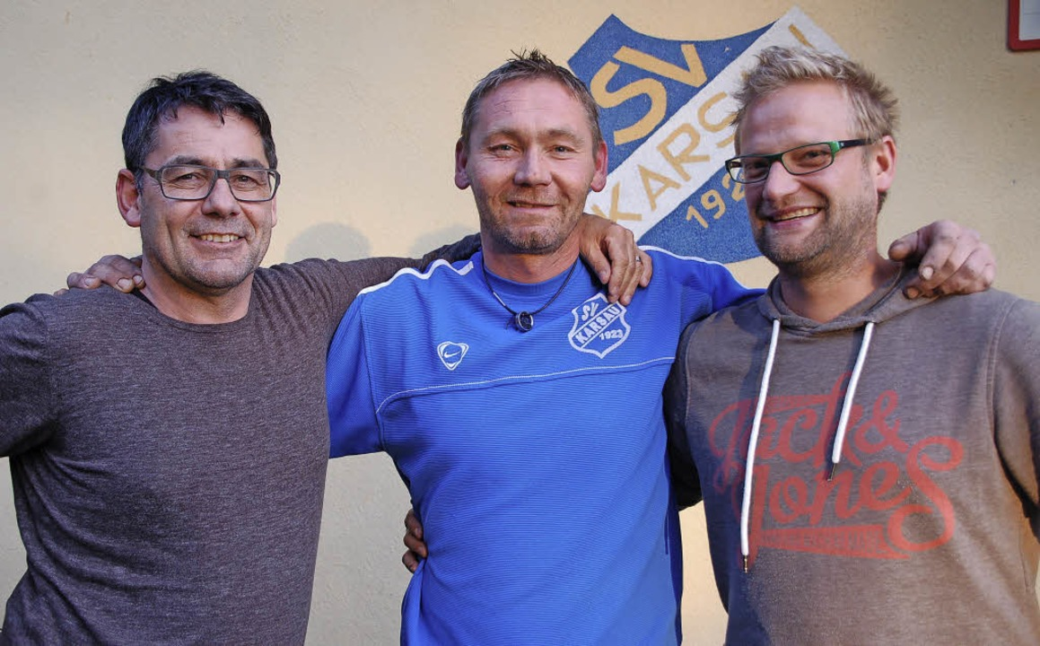 Bernd Brombach (von links), Alexander ...neu im Vorstandsteam Martin Gottstein   | Foto: Petra Wunderle