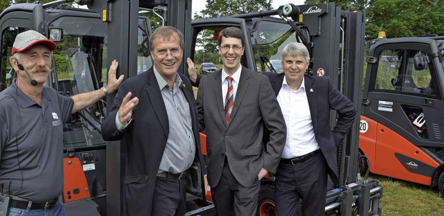 Mit  von der Partie (von links): Jürge...er (Vorstand Technik der Schöler AG).     Foto: Heinz Vollmar