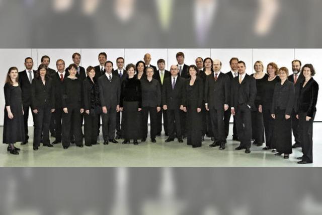 Mit dem Vokalensemble Cappella vocale Würzburg, Dirigent Prof. Roland Börger, Organist Eckhart Kuper (Hannover) in Hinterzarten