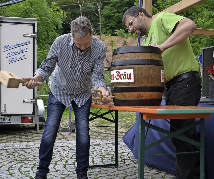 Dorffest Atzenbach: Erstmals schwang z... Kommental Musikanten aus Epfenhofen.   | Foto: Paul Berger