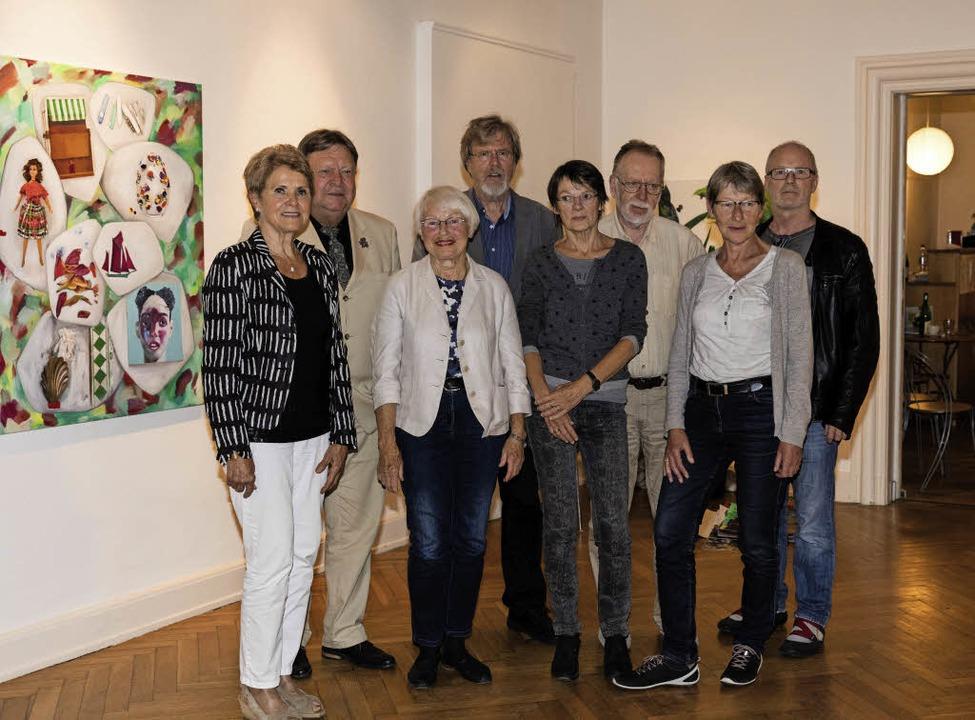 Der Vorstand des Georg-Scholz-Haus-Kunstforums.   | Foto: Gabriele Zahn