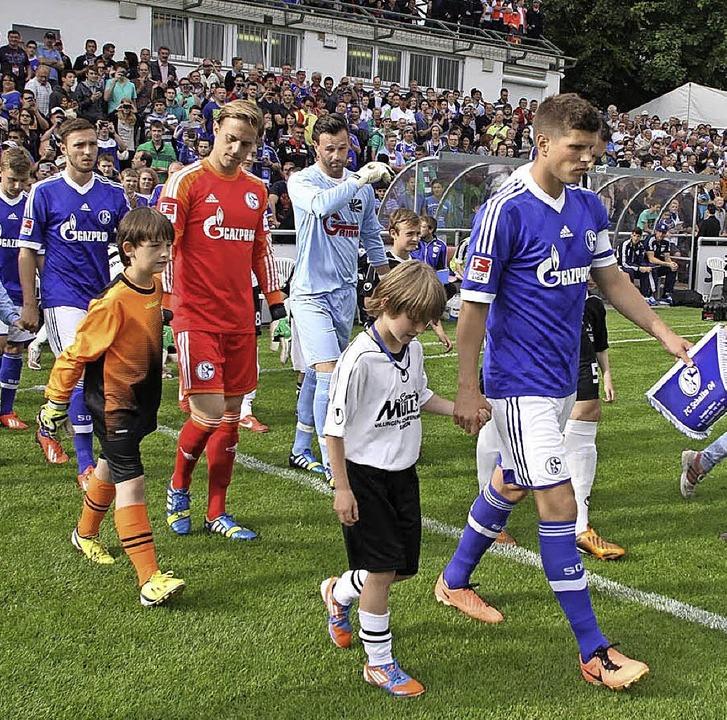 Jugend forsch: Die Nachwuchsfußballer ... Die Knappen gewannen damals mit 5:0.   | Foto: reinhardt