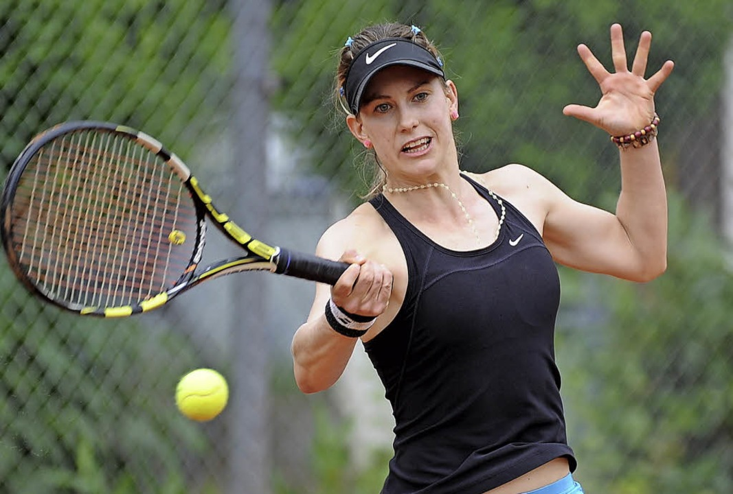 Die argentinische Spitzenspielerin des... Radolfzell souverän in zwei Sätzen.    | Foto: Achim Keller