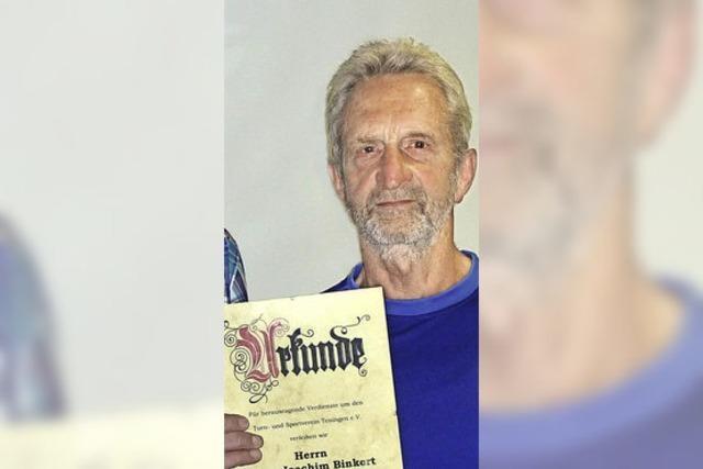 Joachim Binkert ist jetzt Ehrenmitglied