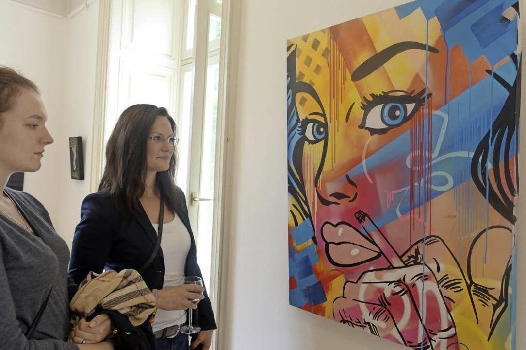 Zwischen Pop Art und Comic: Die Bilder... in der Bad Säckinger Villa Berberich.  | Foto: Roswitha Frey