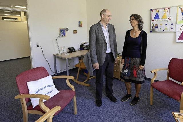 Die Psychologische Beratungsstelle der Evangelischen Kirche hat neue Räume in der Bernhardstraße bezogen.