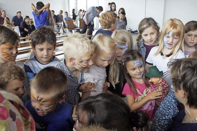 Viel Betrieb im Kindergarten Blumenwiese