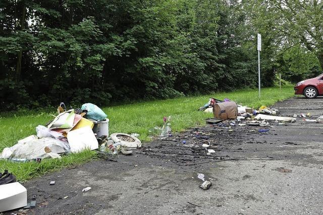 Müllkippe statt Wertstoffcontainer