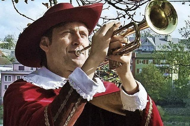 Trompeter spielt in Hameln