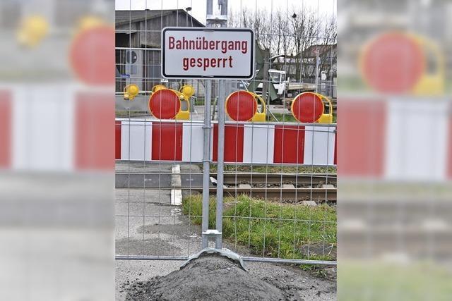 Fünf Bahnübergänge werden erneuert