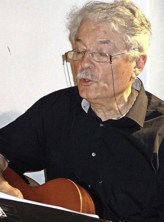 Hansjörg Hänggi hat der Verbindung Men...niges musikalisches Programm gewidmet.  | Foto: klaus brust