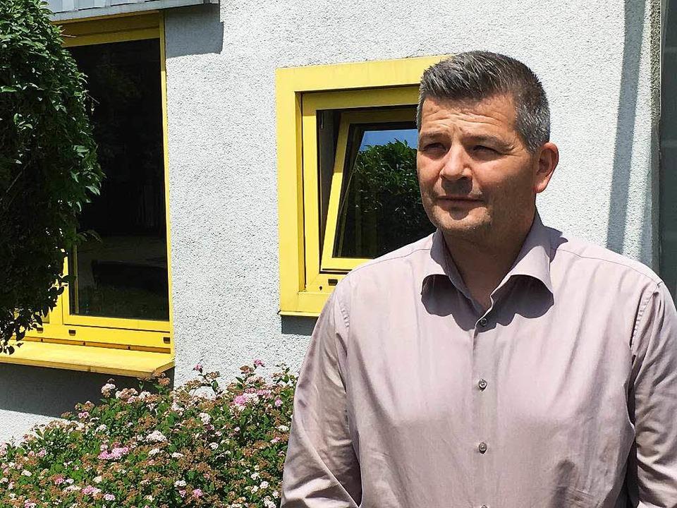 Stefan Gauss, Leiter der Sparte Metallbau des Kenzinger Unternehmens Freyler    Foto: Bernd Kramer