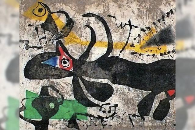 Arbeiten von Joan Miró in der Kunsthalle Messmer in Riegel